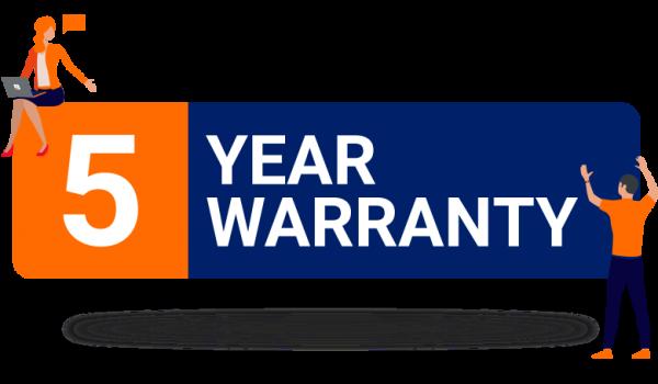 Bytestock 5 year warranty